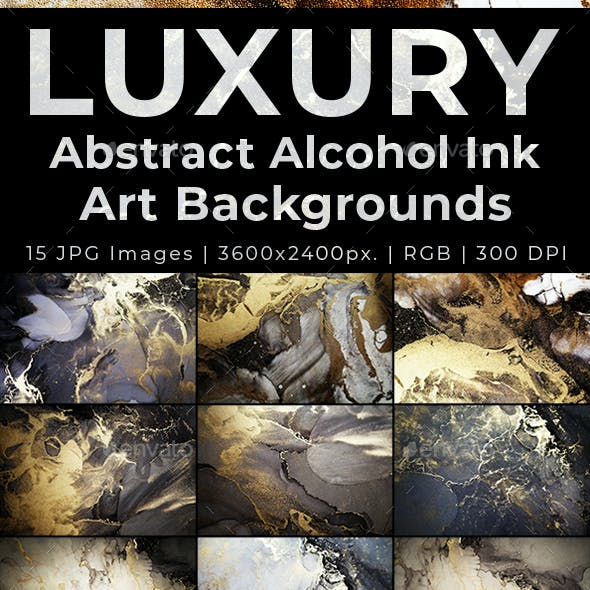 Luxury Abstract Alcohol Ink Art Backgrounds