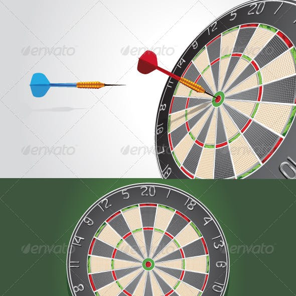 Dartboard & Dart bullets