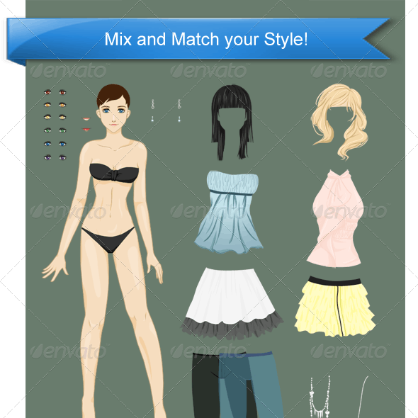 Stylish Dress Up Pack #1