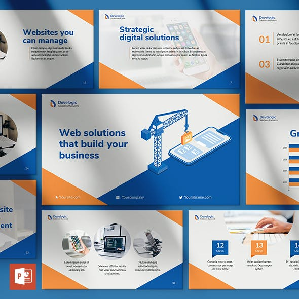 Web and Mobile App Development PowerPoint Presentation Template