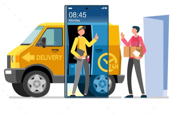 Courier Symbol Home Delivery Vector - Vectors