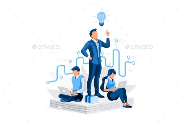 Hiring Best Concept Business Infographic - Vectors