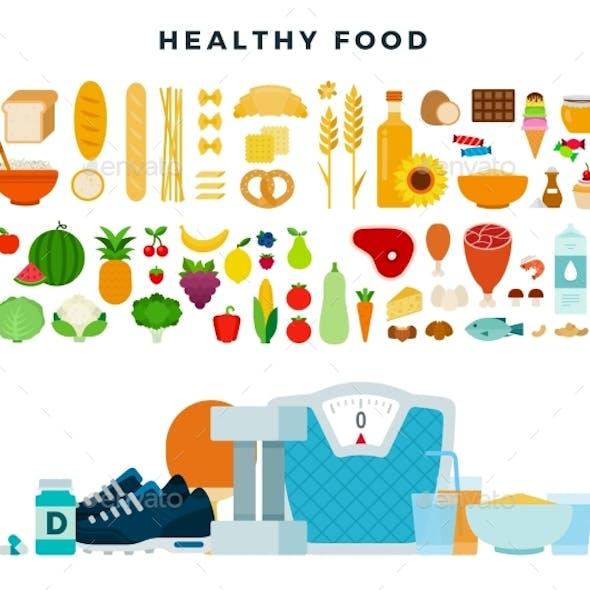 Healthy Food Set