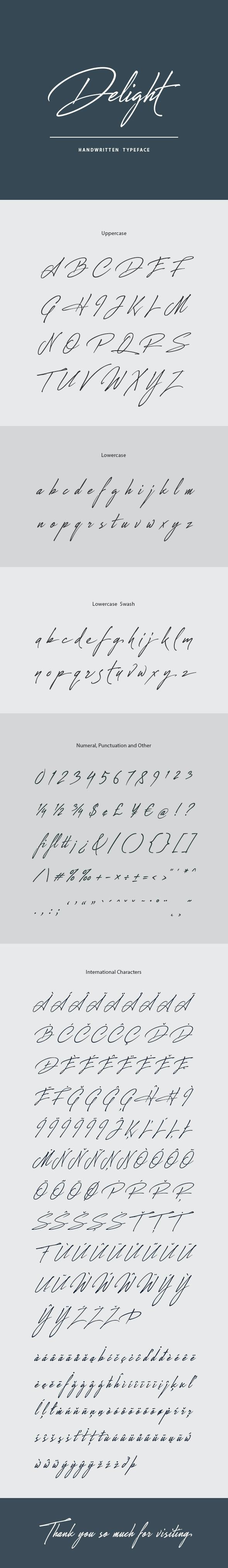 Delight Handwritten Font - Hand-writing Script