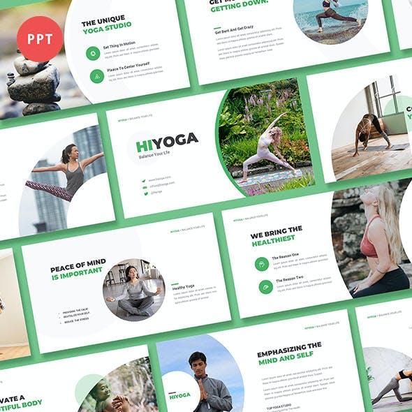 Hiyoga Yoga Class Powerpint Template