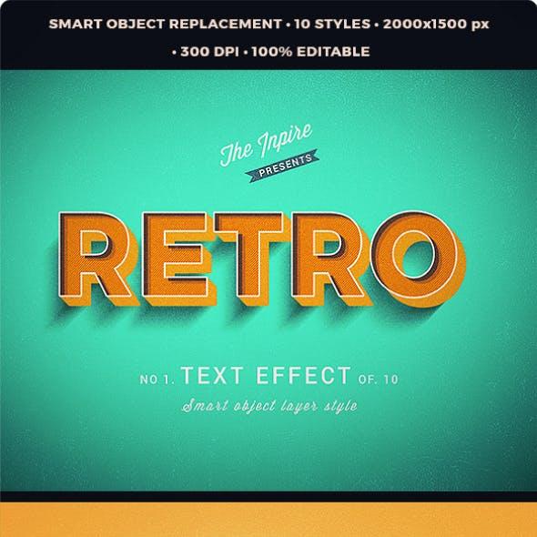3D Vintage Retro Text Effcets V2