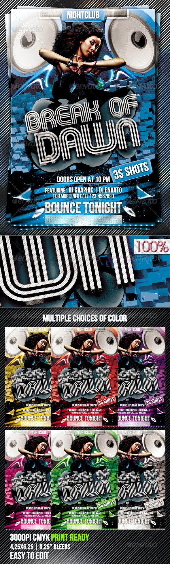 Break Of Dawn Flyer Template Vol.2 - Clubs & Parties Events