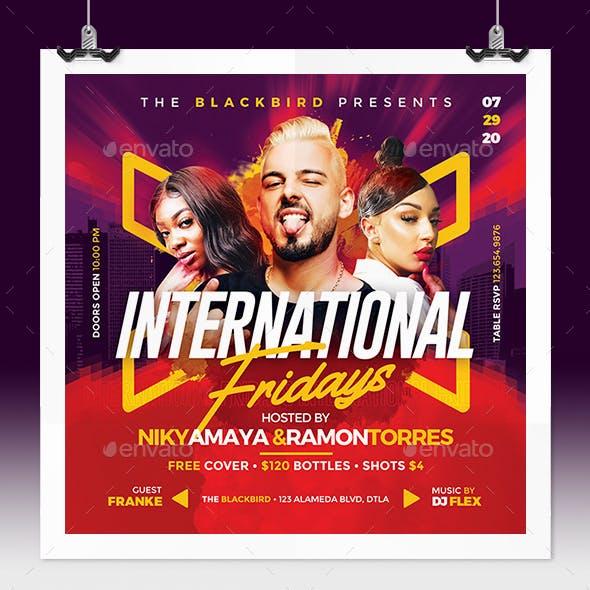 International Fridays Flyer