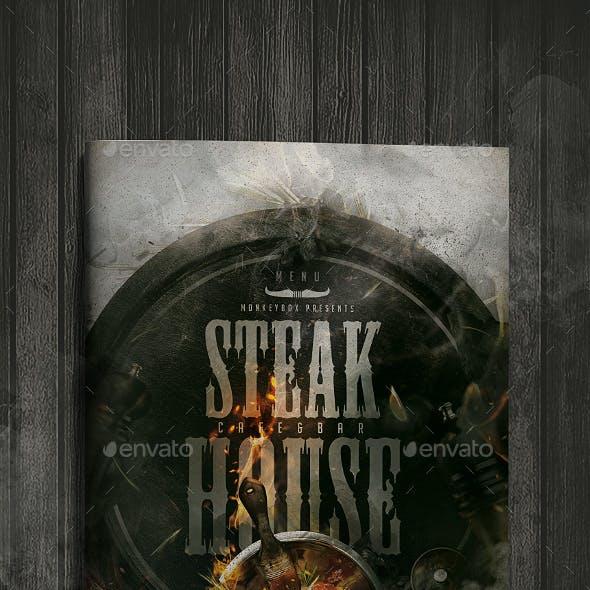 Menu Template Steak House
