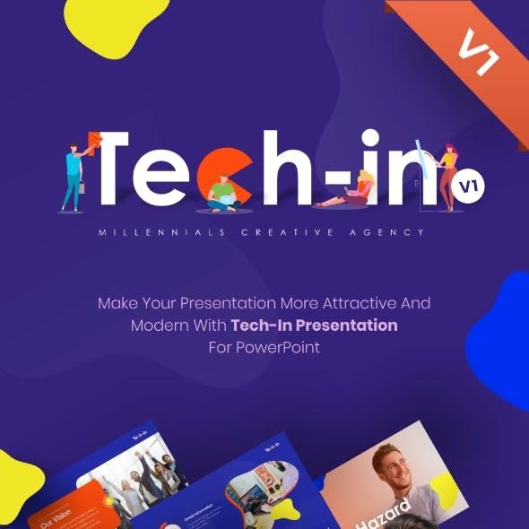 Tech-in Creative Agency PowerPoint Template