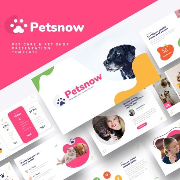 Petsnow - Pet Care & Pet Shop Powerpoint Template
