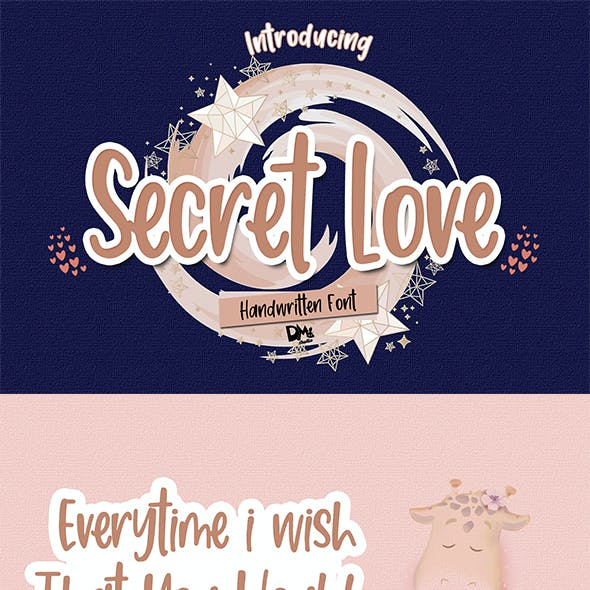 Secret Love - Handwritten Font