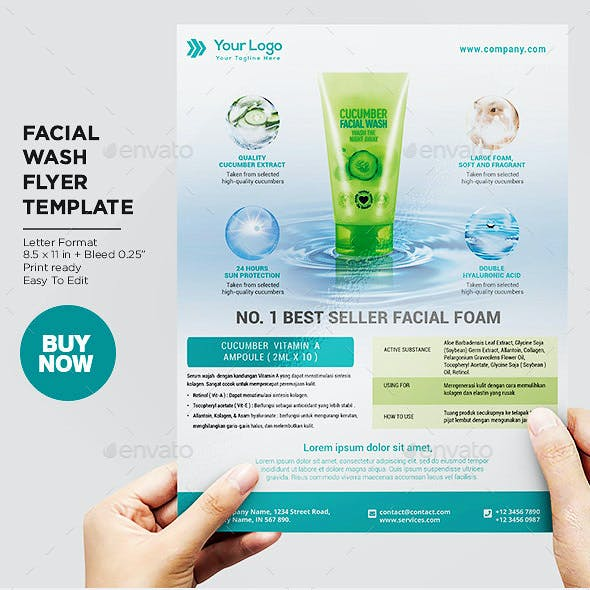 Product Flyer Facial Foam