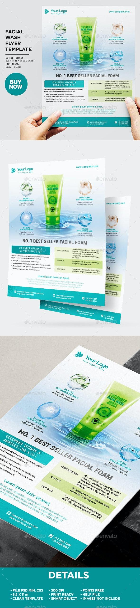 Product Flyer Facial Foam - Corporate Flyers