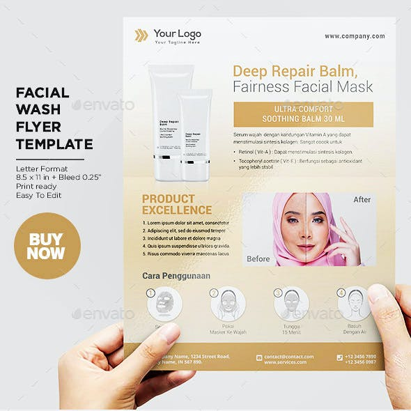 Product Flyer Facial Skin Health