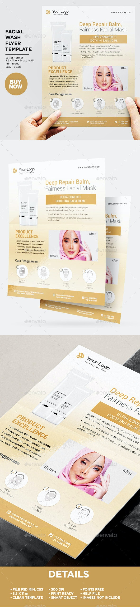 Product Flyer Facial Skin Health - Commerce Flyers