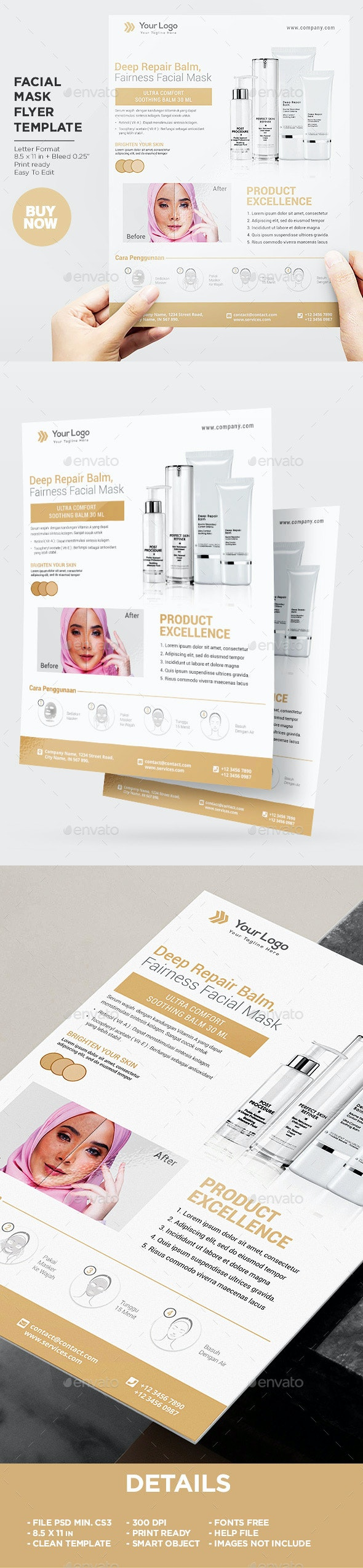 Product Flyer Healthy Face - Corporate Flyers