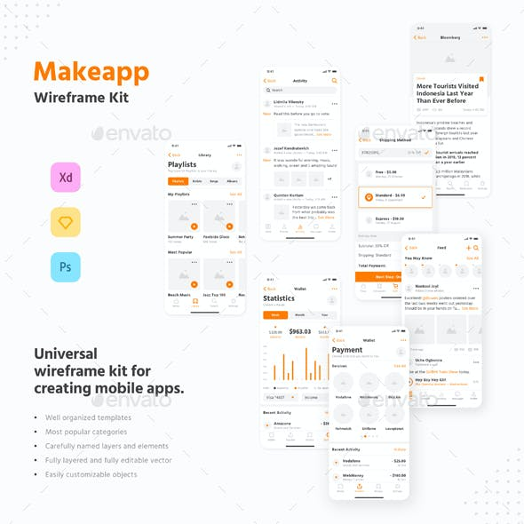 Makeapp Wireframe Kit
