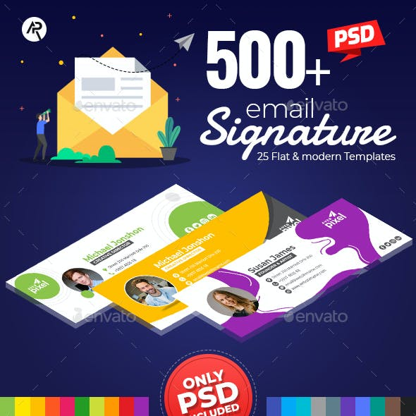 525 Professional E-Signature Templates