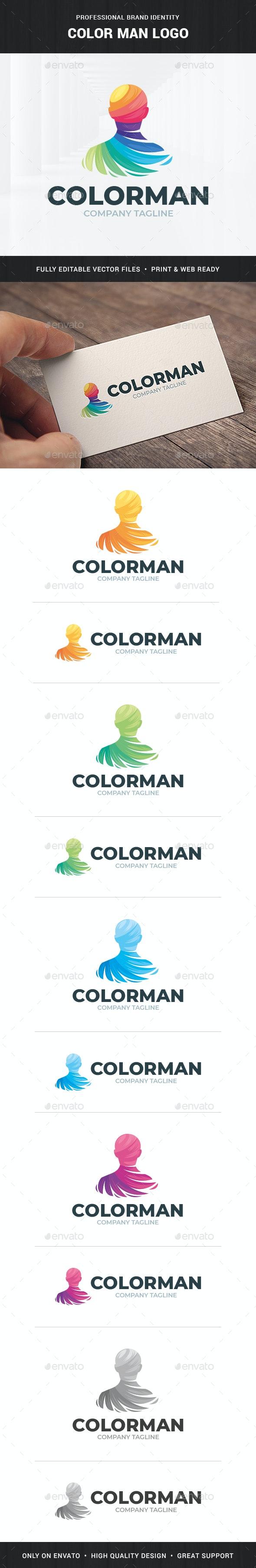 Color Man Logo Template - Humans Logo Templates
