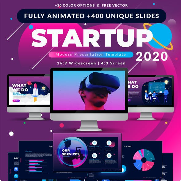 2020 Startup & Multipurpose Premium PowerPoint Presentation Template