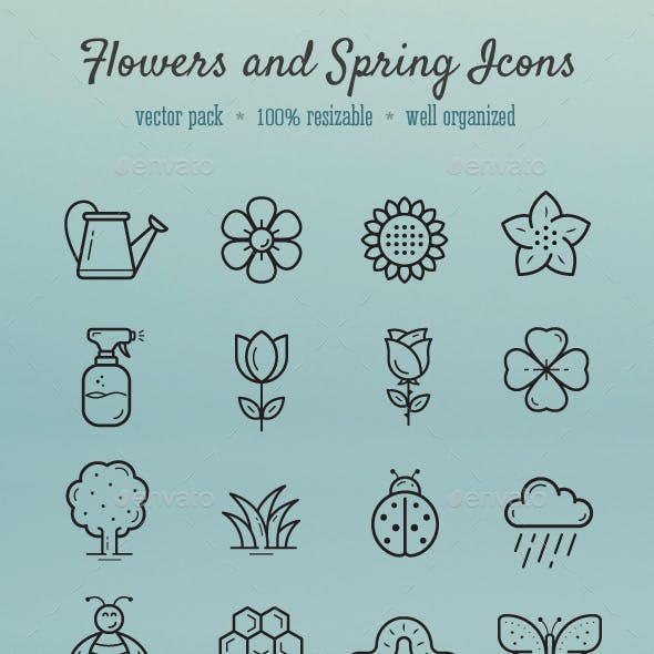 Flowers and Spring icons