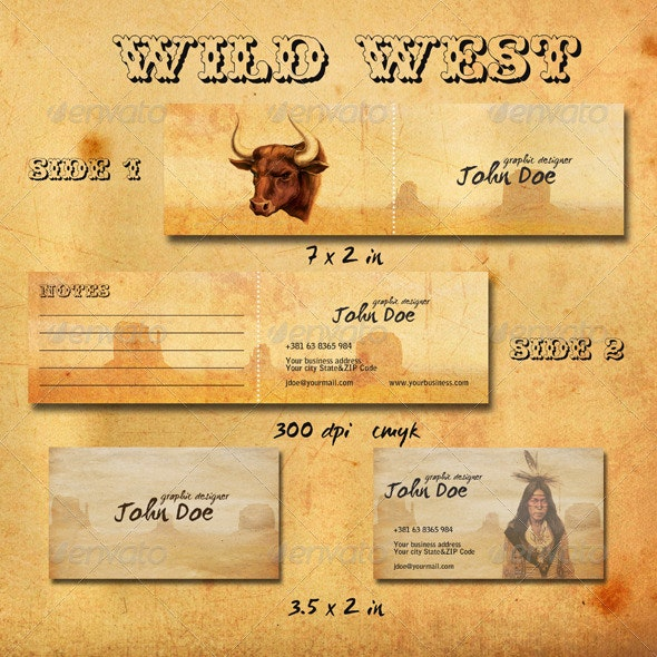 Wild West Business Cards - Creative Business Cards