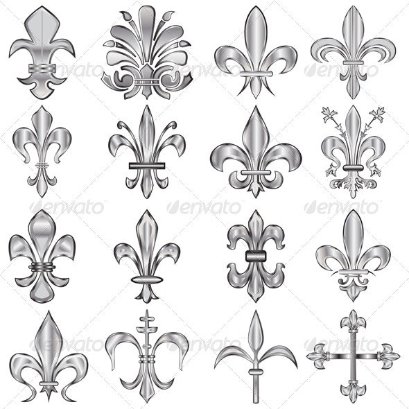 Fleur-de-lis set - Decorative Symbols Decorative