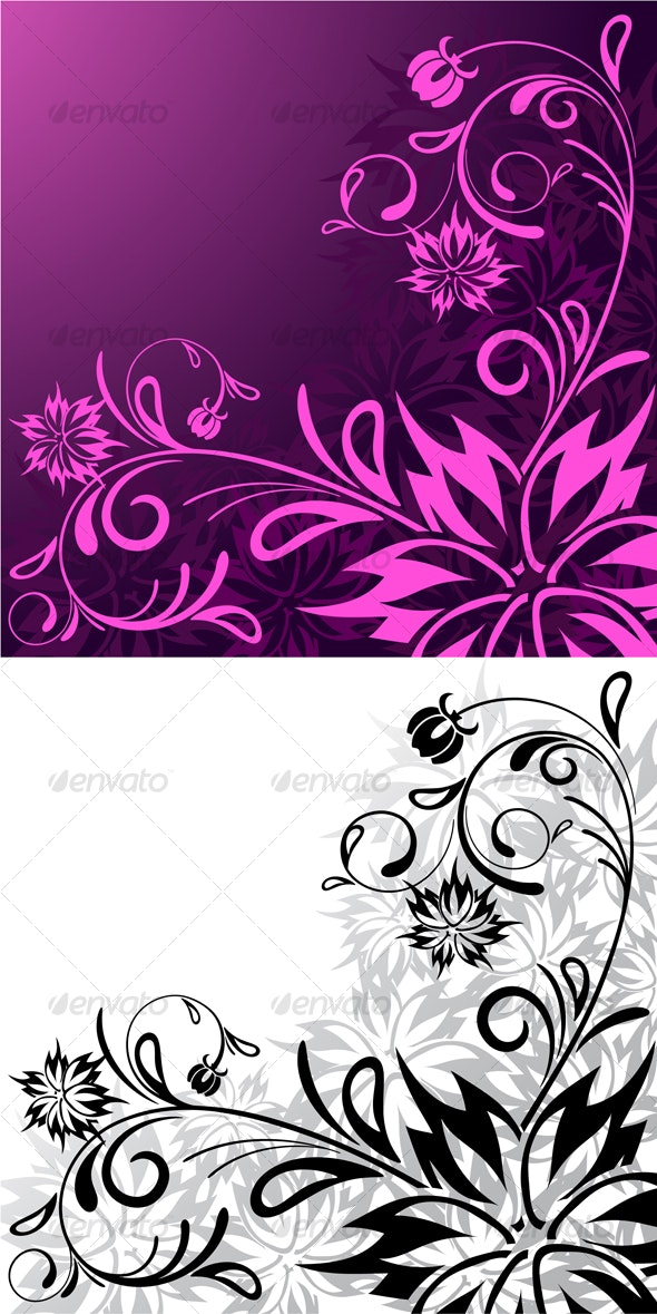 Abstract floral background - Abstract Conceptual