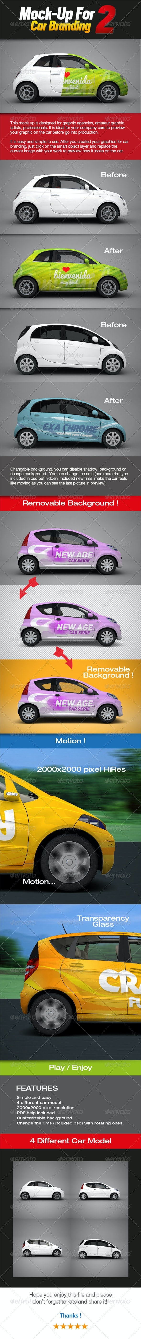 Mock-up for Car Branding 2 - Vehicle Wraps Print