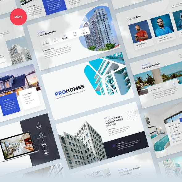 Single Property & Real Estate PowerPoint Template