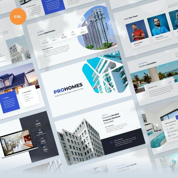 Single Property & Real Estate Google Slides Template