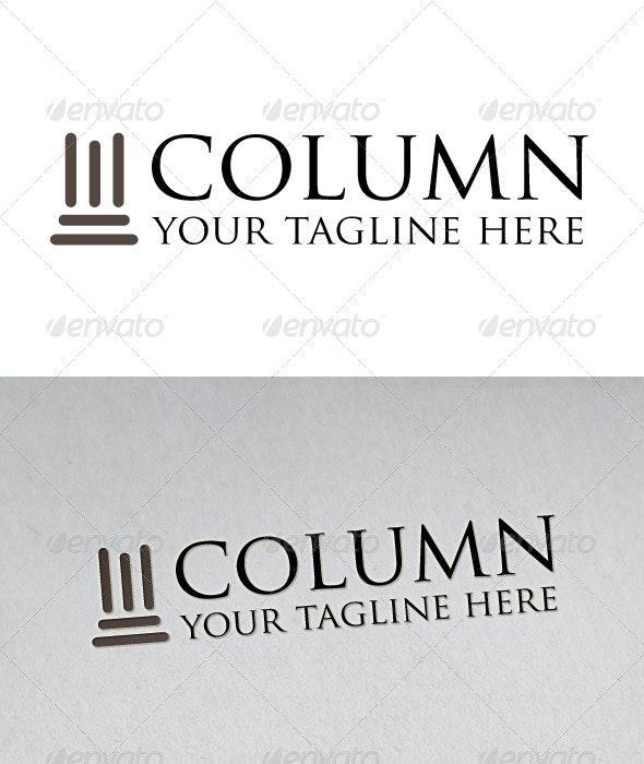 Column Logo - Buildings Logo Templates
