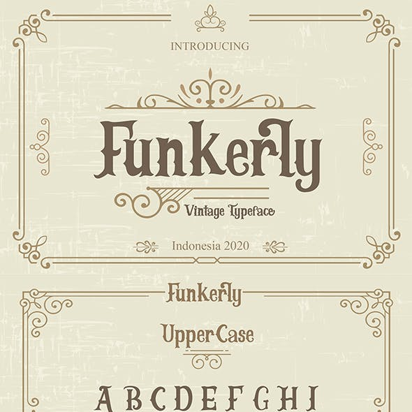 Funkerly Vintage Typeface Serif Font