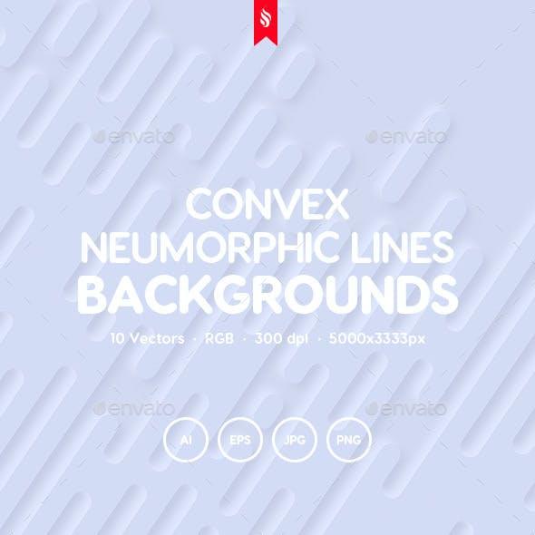 Сonvex - Neumorphic Rounded Lines Vector Backgrounds