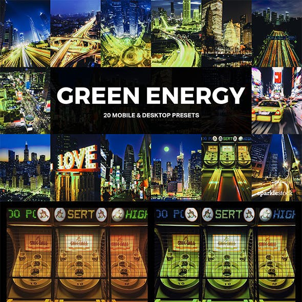 20 Green Energy Lightroom Presets and LUTs