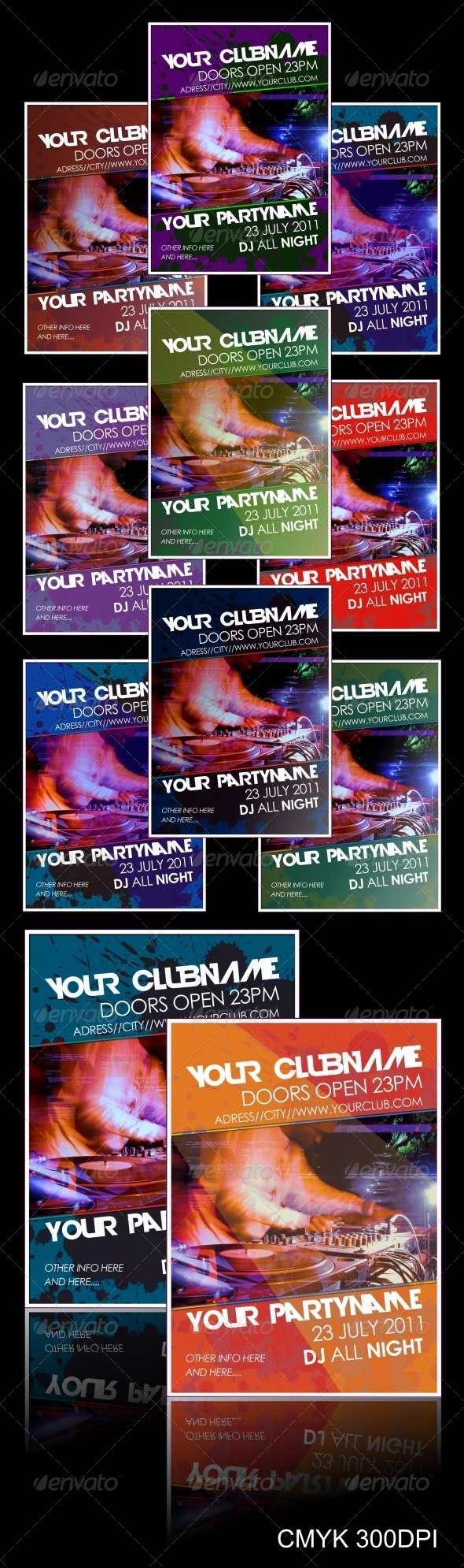 Multicolor Party Flyer - Clubs & Parties Events