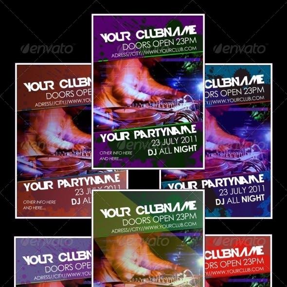 Multicolor Party Flyer