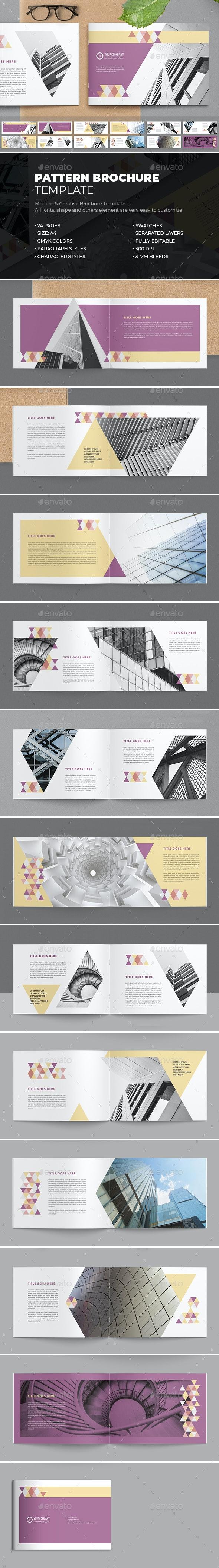Modern Pattern Brochure - Brochures Print Templates