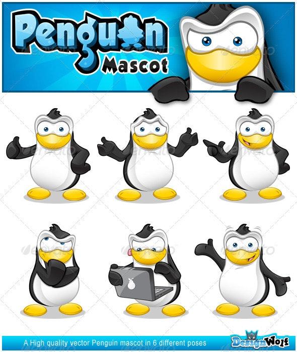 Penguin Mascot Series 1 - Characters Vectors