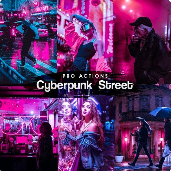 Cyberpunk Street Photoshop Actions
