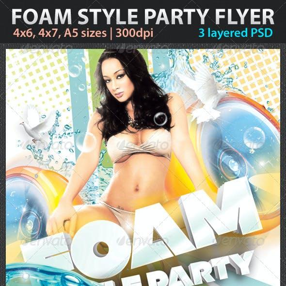 Foam Style Party Flyer