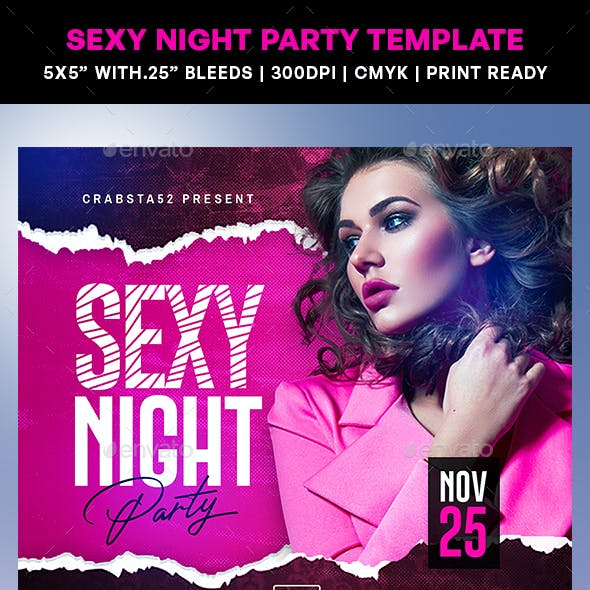 Sexy Night Party Flyer Template