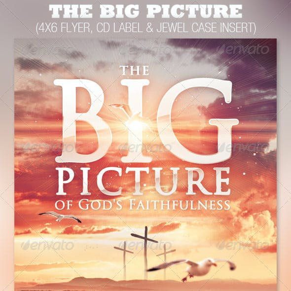 The Big Picture Church Flyer and CD Template