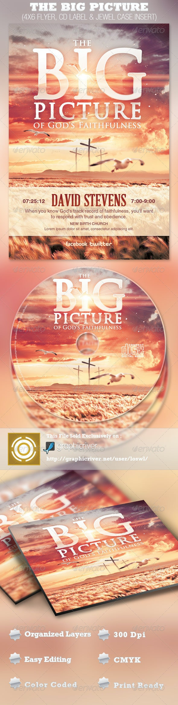 The Big Picture Church Flyer and CD Template - Church Flyers