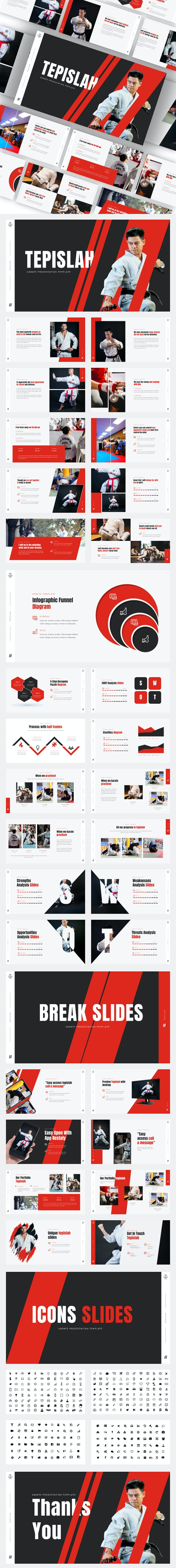Tepislah - Karate & Martial Art Google Slides Template - Google Slides Presentation Templates