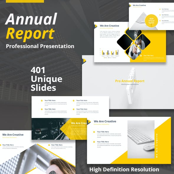 Pro Annual Report Powerpoint Presentation Template