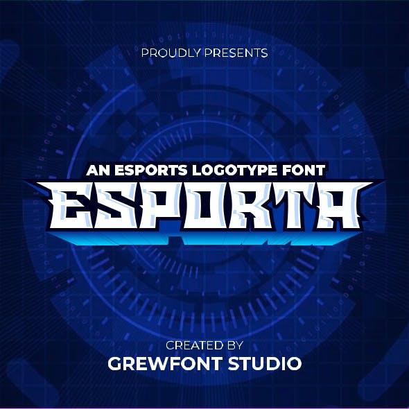 Esporta - a Esport Font Display