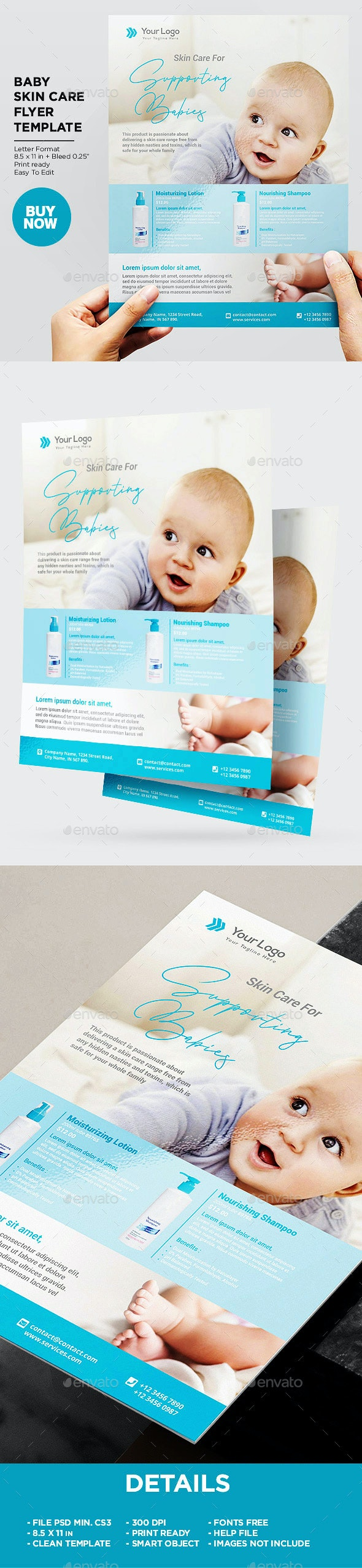Product Flyer Baby Skincare - Corporate Flyers