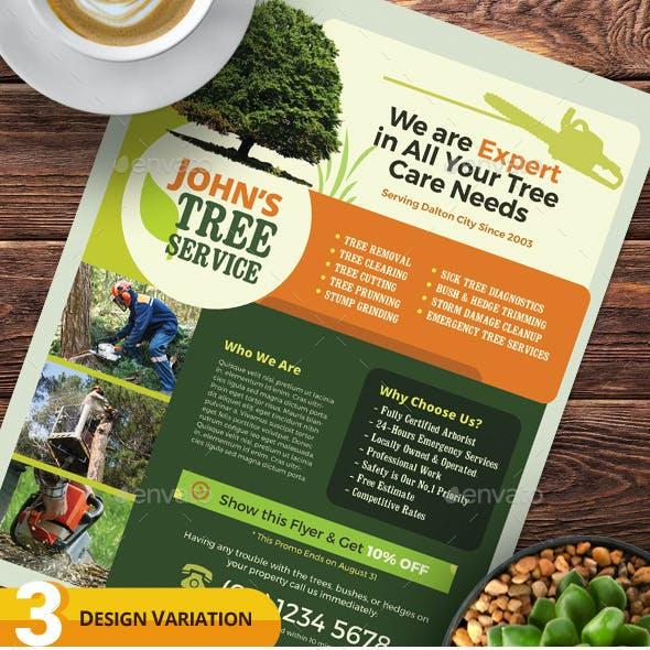 Tree Service Company Flyer Templates